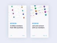 Member app Onboarding & Sample Statutes -  UI Design