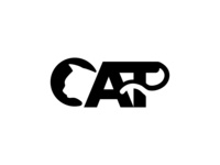 cat pet animal logo text, or letter C for Cat initial Logo