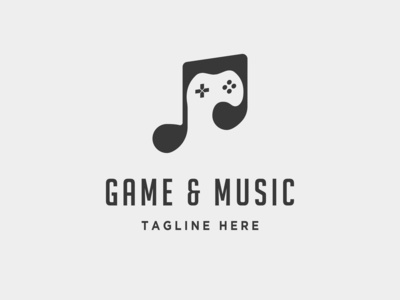 Music Game Pad Logo Template