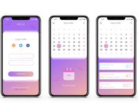 UI Calendar App interface