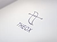 """Logo design """"THEOX"""" white"""