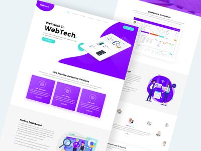 WebTech. Landing Page