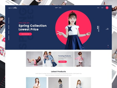 Eye Candy Kids Ecommerce  Landing Page