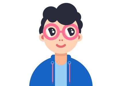Flat Cartoon Character