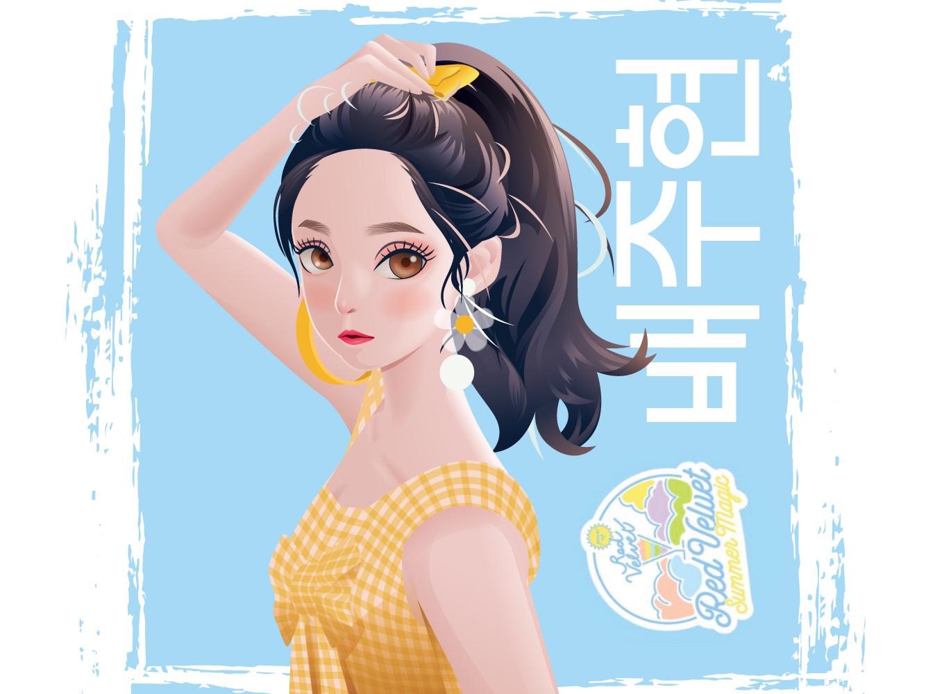 Irene Red Velvet vector korea girlband up power magic summer redvelvet velvet red irene