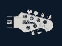 Guitar Headstock Illustration II