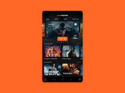 VOD App Home Screen