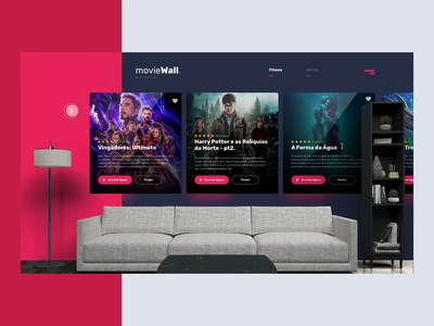 Movie Wall - UI Concept userinterfacedesign uiux websitedesign uxdesigner userexperience uidesigner uxdesign userinterface uidesign ui