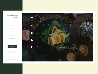 Table - UI design uxdesign uxdesigner userinterface designer userinterfacedesign uidesigner sketch figma adobexd webdesign website ux uiux ui premium food user interface ui design