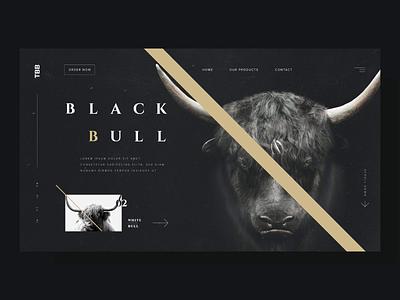 Black Bull - UI Concept #AdobeXD black bull uiux ux dark mode user interface design uidesign userinterface ui adobexd
