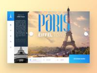 Daily Interface 16 - 30: Paris - Eiffel Tower UI