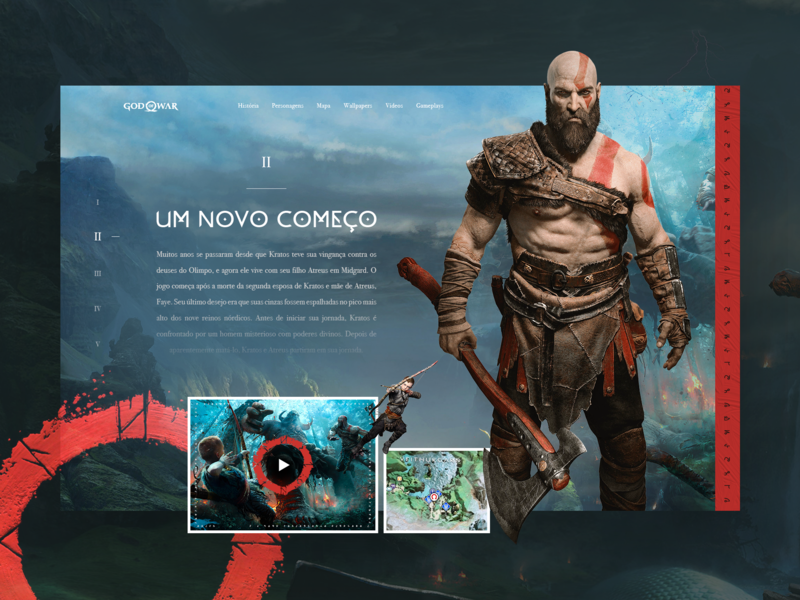 God Of War - Interface Concept kratos god of war design designer dribbble ideas photoshop ui uidesign uidesigner userexperience userinterface ux uxdesign uxdesigner uxui webdesign webdesigner websitedesign wireframe