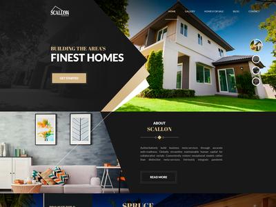 Scallon Custom Homes - Webdesign