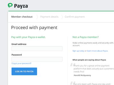Payza checkout