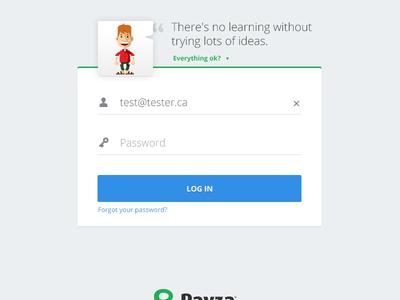 Advanced Payza login