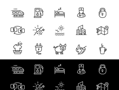 modern hotels and travel icons arranged. #https://submit.shutter