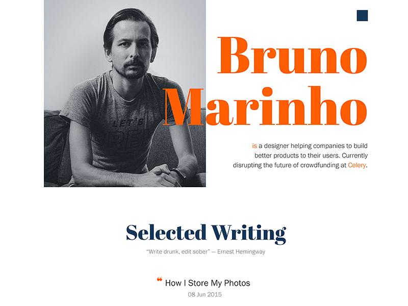 new brunomarinho.com showcase typeface folio revamp redesign portfolio