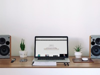 freebie full - Free Macbook Workspace Mockup