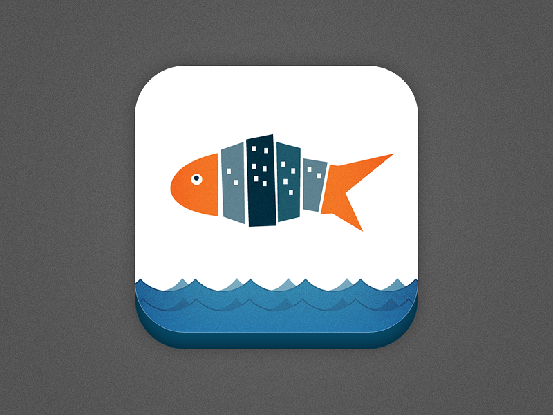 Peixe Urbano Iphone - Icon icon iphone fish sea blue orange peixeurbano