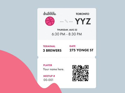 Meetup Boarding Pass