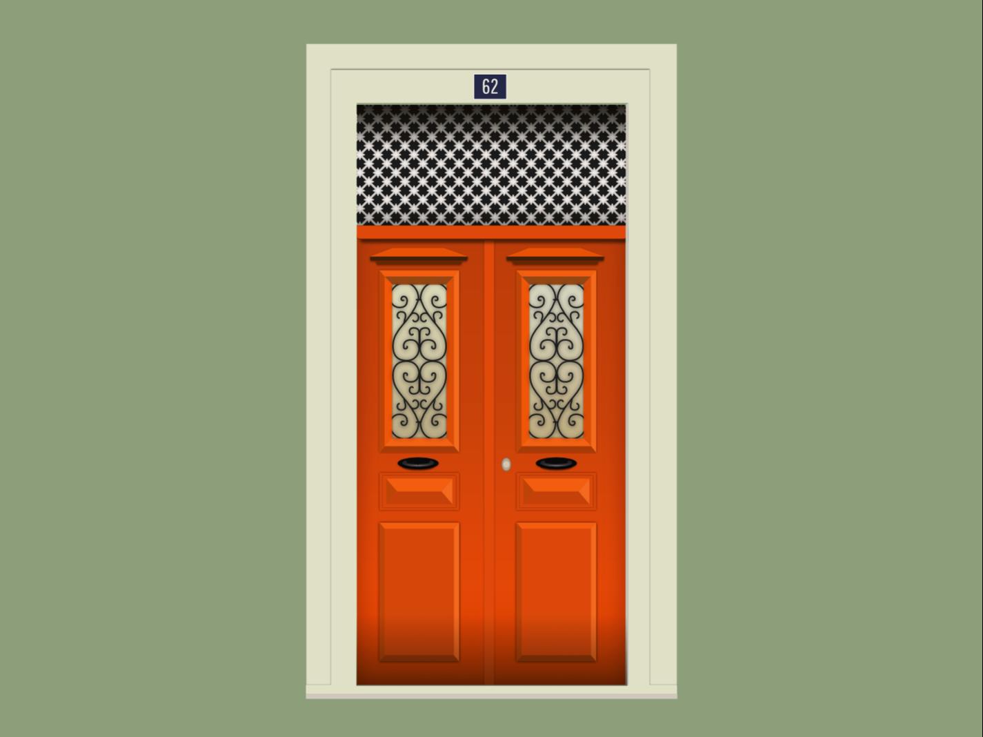 Door nº 28 - 62 portugal 2d flat doors vector design illustration door affinity
