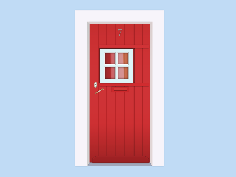 Door madeinaffinity 2d art portugal 2d flat doors vector design illustration door affinity