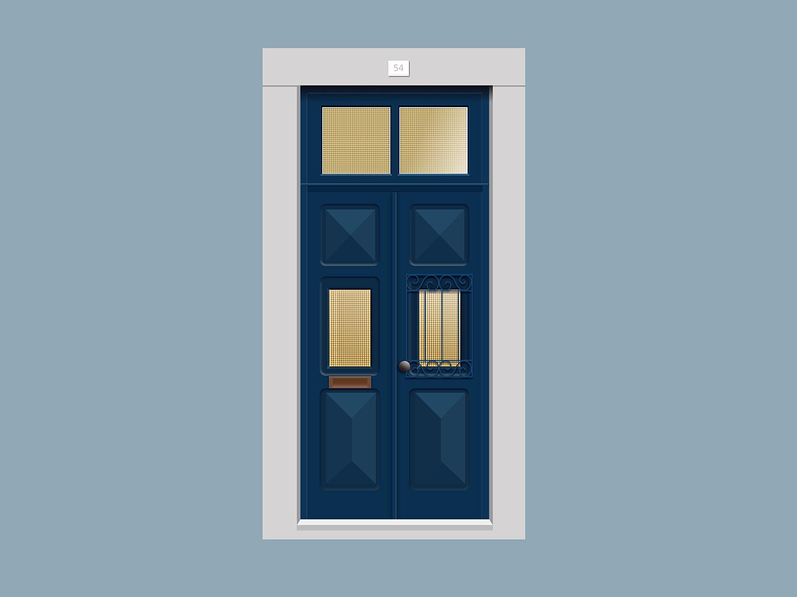 Door nº 54 madeinaffinity 2d art portugal 2d flat doors vector design illustration door affinity