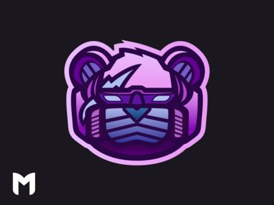 Fortnite Robot Mascot Logo