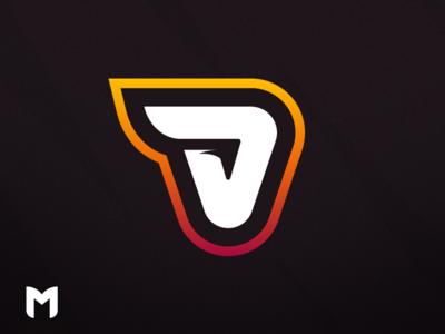 V Mascot Logo