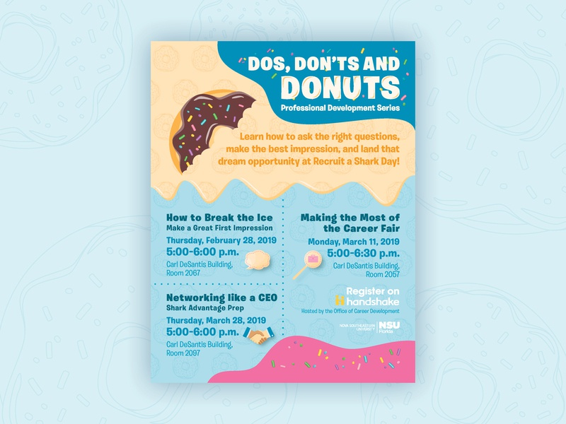 Donuts Flyer donuts vector indesign design illustrator illustration flyer design