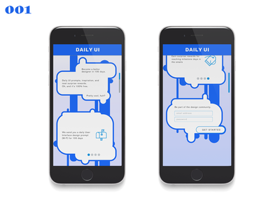 Daily UI #001–Sign On blue mobile sign on sketchapp sketch ui dailyui 001 dailyui