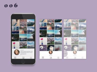Daily UI #006–User Profile