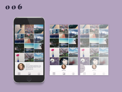 Daily UI #006–User Profile dailyui006 metadata scroll swipe usability instagram sketchapp sketch ui daily 100 challenge daily 100 dailyui