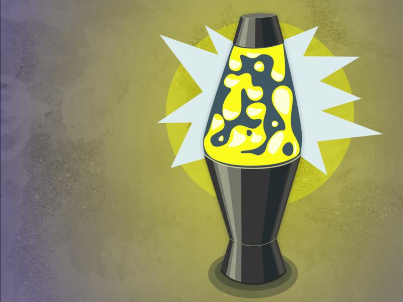 rad vibes hand drawn lettering rad lava lamp texture sketchapp sketch illustration vector debut