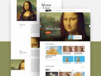 Louvre Museum Web Concept