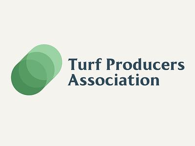 Turf Producers Association logo design grass turf