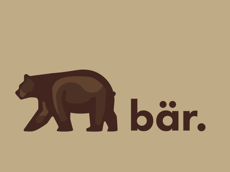 Old Bear Logo design illustration