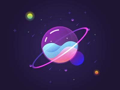 Glass Planet learning illustrator illustration
