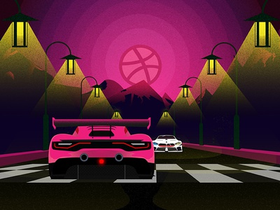 Race Meet-Up nightlights speed automotive illustration car sports vector lights firstshot mountain bmw motorsports
