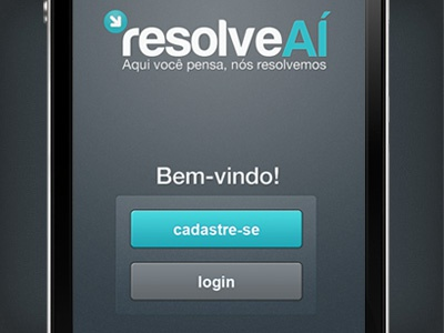 ResolveAÍ app - Login login ios app iphone blue grey