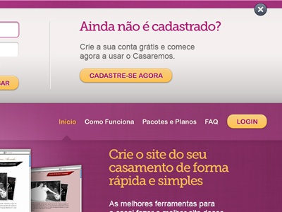 Casaremos Login ui ux interface user interface grey magenta yellow login form