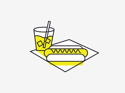 Hotdog Day Classic food yellow illustration hot dog