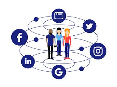 Digital Marketing social media people lines logo marketing digital