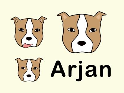 Arjan Logo Concepts logos logo design microservices serverless tech friendly animal pitbull dog