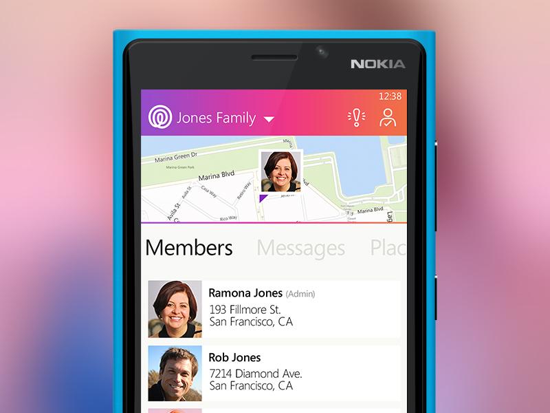 Life360 for Windows Phone windows phone mobile ui life360 app wp8