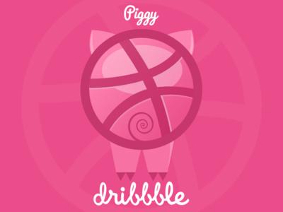 Dribbble Piggy