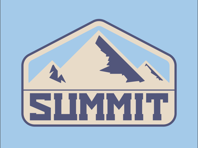 Summit mountain colour design badge adobe graphicdesign illustrator vector logo