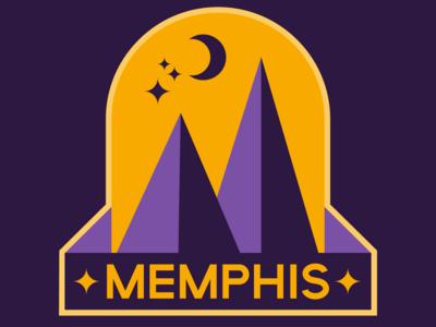Memphis badge logo graphicdesign adobe pyramid design graphic purple illustrator vector badgedesign logo badge memphis