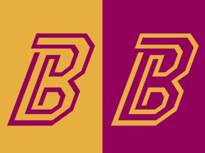 B logo gold purple b angles geometric lines colour design adobe graphicdesign illustrator vector logo
