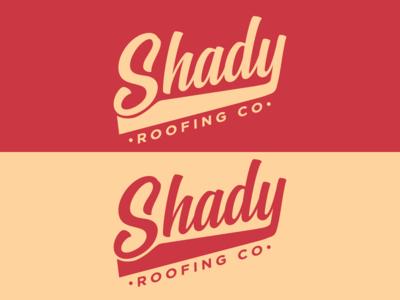 Shady Roofing Co. vintage branding colour design adobe graphicdesign illustrator vector logo